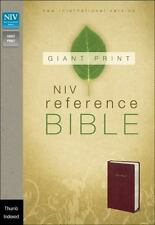 NIV Reference Bible, Giant Print, Burgundy, Thumb-Indexed