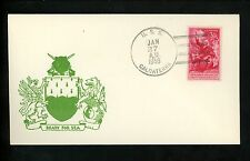 US Naval Ship Cover USS Calcaterra DE-390 Cold War 1/27/1956 New York NY