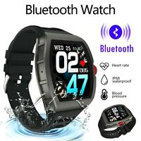 Tact Bluetooth Smart Watch Blood Pressure Heart Rate Tracker iOS Android IP68