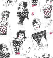 Chic Alors ladies fashion black white pink Michael Miller fabric