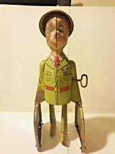 Unique Art G.I. Joe & The K-9 Pups Walking Windup Toy 1950s  B