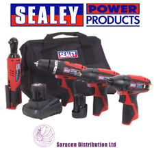SEALEY 12V CORDLESS 4PC COMBO KIT, 2 BATTERIES, CHARGER & BAG - CP1200COMBO