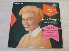 "Jane Morgan & i troubadors/tutti i Way/1958 di Londra 7"" SINGOLO EP"