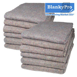 """12 Heavy Duty Textile Moving Blanket 54"""" x 72"""" Furniture Packing Pad 20LB/dz"""
