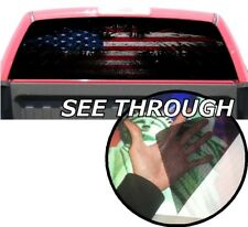 P358 American Flag Eagle Rear Window Tint Graphic Decal Wrap Back Pickup