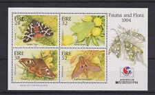UMM MNH STAMP SHEET 1994 IRELAND EIRE PHILAKOREA MOTHS FAUNA & FLORA SG MS918
