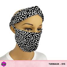 Rhezz TurMask (Turban & Face Mask), Polka Dot Design, Free Shipping