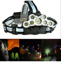 80000LM 7/9x T6 LED Headlamp USB Rechargeable Head light Torch Lamp Super Bright