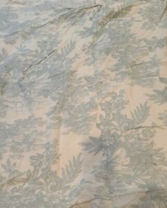 Awesome Pottery Barn Matine Toile Full / Queen Duvet Porcelain Blue