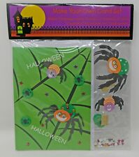 DIY Make Your Own Halloween Card Set Spiders Stars Circle Eyeball Embellishments