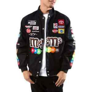 JH Design Nascar Kyle Busch M&Ms Full-Snap Twill Uniform Jacket Men's Size XXL
