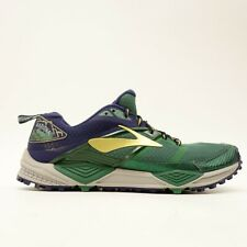 Brooks Cascadia 12 Mens US 9 EU 42.5 Green National Parks Running Athletic Shoes
