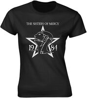 THE SISTERS OF MERCY 1984 WOMENS GIRLIE T-SHIRT OFFICIAL MERCHANDISE