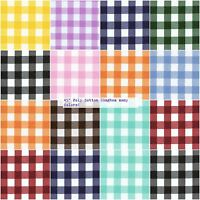 """Gingham Fabric 1"""" Checkered Poly Cotton Fabric 58"""" Wide Fabric Sold By The Yard"""