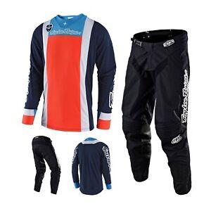 Troy Lee Designs Squadra Combo Orange Black Trousers MX Shirt Enduro Motocross