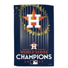 """HOUSTON ASTROS 2017 WORLD SERIES CHAMPS GROMMET WITH HOOK GOLF TOWEL 16""""X25"""""""