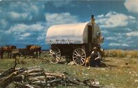 CHUCK WAGON~COOKIE & MOST IMPORTANT MAN MADE ON THE RANGE~COWBOY POSTCARD 1960s
