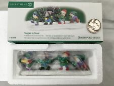 New Department 56 Tangled In Tinsel Porcelain Heritage Village Nos North Pole A+