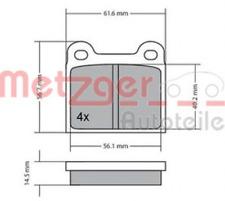 Bremsbelagsatz, Scheibenbremse für Bremsanlage Hinterachse METZGER 1170003