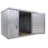 """Industrial Storage Shed - Steel - Outdoor - 9 ft 2"""" W x 12 ft 6"""" D x 7 ft 1"""" H"""