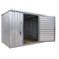 "Industrial Storage Shed - Steel - Outdoor - 9 ft 2"" W x 12 ft 6"" D x 7 ft 1"" H"