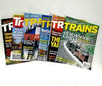 Trains Magazine Lot of 6 2002 to- 2018 Kalmbach Publishing
