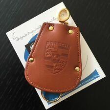 Genuine Porsche Design Brown Leather Oldtimer Key Chain