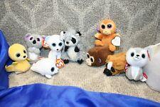 Lot of 9 McDonald's Ty Teenie Beanie Boos Mini Plush Stuffed Animals free ship