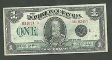1923 Series Dominion Of Canada 1 Dollar Campbell Sellar Currency Note 33  Paper