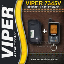 Viper 7345V 2-Way LCD Remote Control AND Leather Case Combo