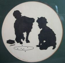 marble shooters silkscreen silhouette by Starr Ayers signed