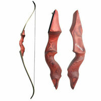 "30-60lb Archery 60"" Recurve Bow Longbow Right Hand Adult Outdoor Hunting RED"