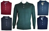Polo da uomo in di lana maglione M L XL XXL Maglia con colletto blu grigio verde