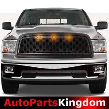09-12 Dodge RAM 1500 Raptor Style Matte Black Mesh Grille+Shell+Amber LED light