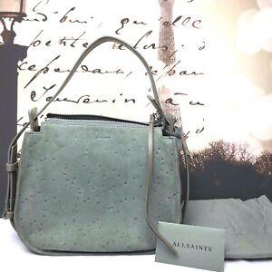 AllSaints Echo Mini Hobo Star Embossed Shoulder Bag  Smoky Grey (List$278) NEW
