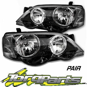 PAIR HEADLIGHTS SUIT BA BF FALCON FORD XR6 XR8 HEADLAMPS HEAD LIGHTS LAMPS