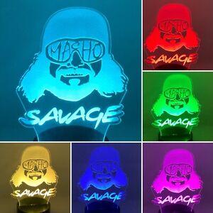 Macho Man Randy Savage Led Night Light Lamp with Remote & Free Shipping