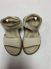 Nwob Girls Toddler Old Soles Cream Sandals Size 22 Eu/ 6 Us