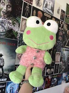 rare sanrio keroppi build a bear plush frog y2k hello kitty