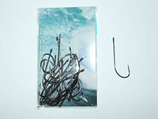 25 x BLACK NICKEL WORM HOOKS 1/0 2/0 3/0 4/0 5/0 HIGH CARBON BEACH BOAT FISHING