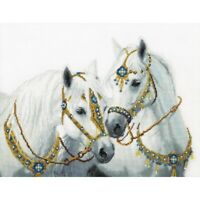 Counted Cross Stitch Kit Horses DIY Hand embroidery