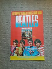 Sergeant Pepper's Lonely Hearts Club Band Beatles CD Release Poster 1987 24×36
