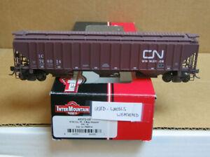 INTERMOUNTAIN 45372-09 HO CN/IC 3-Bay Ribbed Covered Hopper #766014