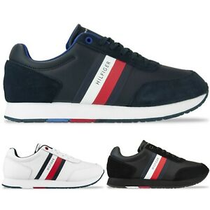 Tommy Hilfiger Trainers - Tommy Hilfiger Corporate Leather Flag Runner Trainers