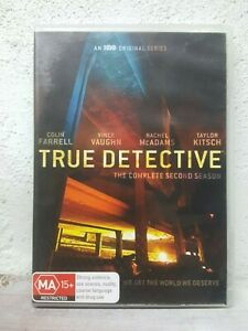 TRUE DETECTIVE - Season 2 ( DVD SET ) Complete Second Series Two - 8 HOURS !