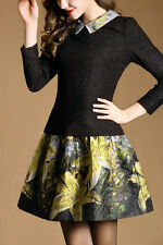 Spread Collar Floral Printed Skirt Size 8-14