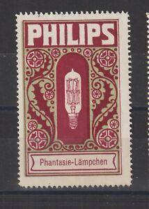 German Poster Stamp Philips Lamp