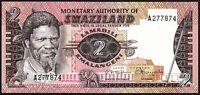 1974 Swaziland 2 Emalangeni Banknote * UNC * P-2 *