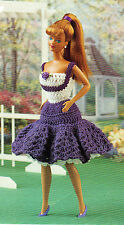 SWINGY Sweet Sundress/Fashion Doll Outfit/Crochet Pattern Instructions