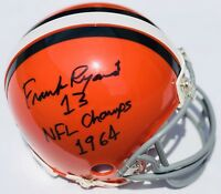 Cleveland Browns #13 FRANK RYAN Signed Autographed Football Helmet! 1964 CHAMPS!